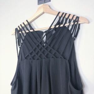 torrid Tops - Torrid Black Strappy Georgette Tunic Size - 2X
